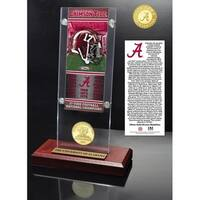 Alabama 17-TIme National Champs Ticket & Bronze Coin Acrylic - Multi-color
