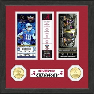 Alabama 2017 Football National Champions Ticket Collection - Multi-color