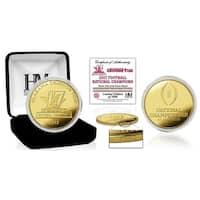 Alabama Crimson Tide 2017 Football National Champions Gold Mint Coin - Multi-color