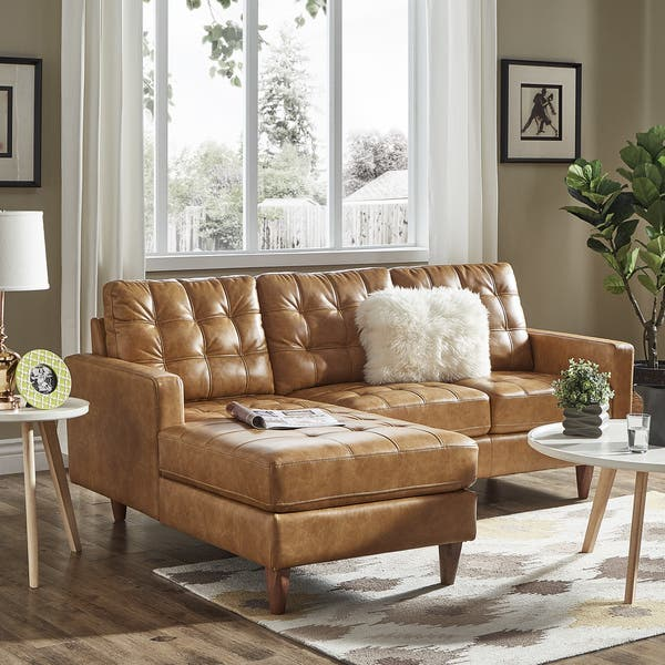 Swell Shop Odin Caramel Leather Gel Sofa Sectional With Chaise By Caraccident5 Cool Chair Designs And Ideas Caraccident5Info