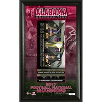 Alabama 2017 Football National Champions Ticket Pano - Multi-color