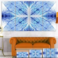 Designart 'Symmetrical Light Blue Pattern' Digital Floral Art Canvas Print