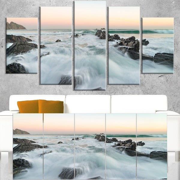 bay of biscay sunrise waves extra large wall art landscape free