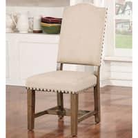 Cooper Rustic Light Oak Side Chairs (Set of 2) by FOA