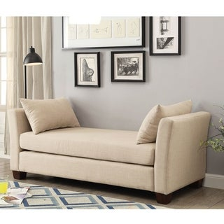 Link to Furniture of America Bays Contemporary 70-inch Linen Fabric Bench Similar Items in Living Room Furniture