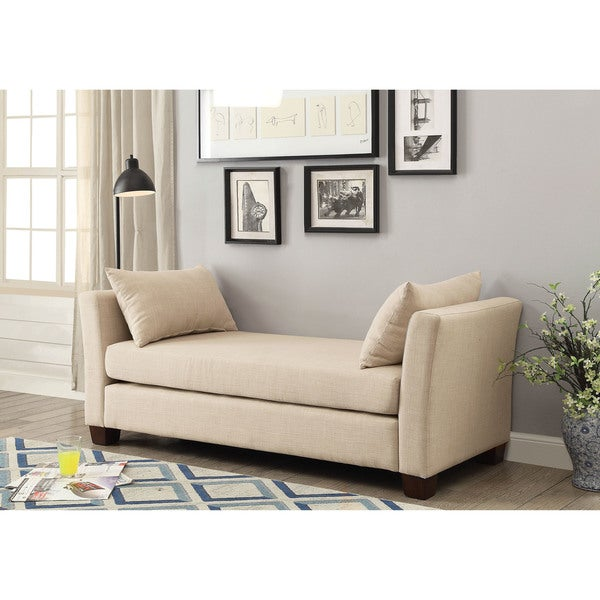 Shop Furniture Of America Benny Contemporary Linen 70 Inch Bench