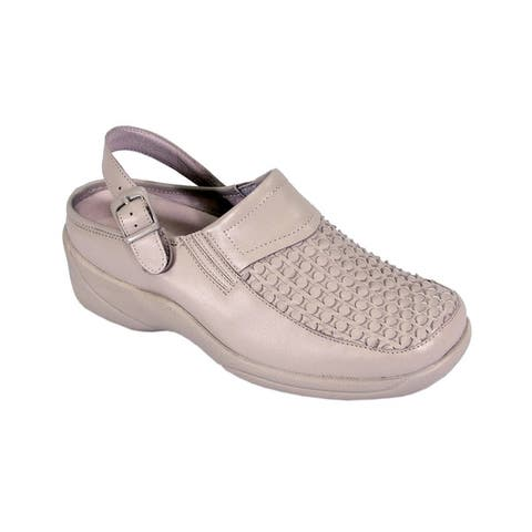 24 HOUR COMFORT Madison Women Extra Wide Width Pattern Work Clogs