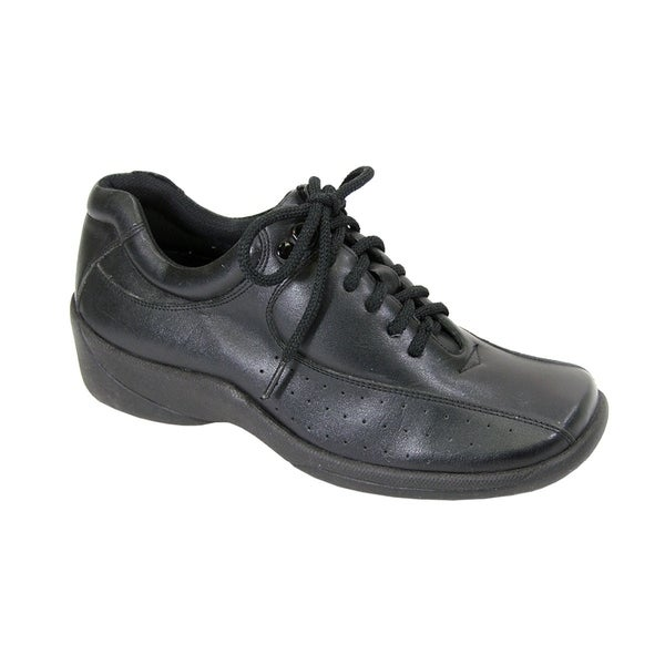 24 HOUR COMFORT Gina Women Wide Width LightWeight Leather LaceUp Shoes. Opens flyout.