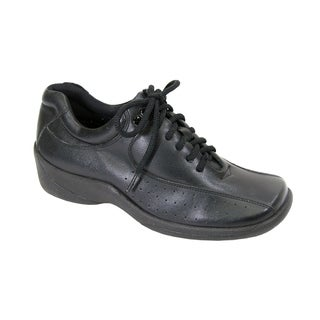 24 HOUR COMFORT Gina Women Wide Width LightWeight Leather LaceUp Shoes
