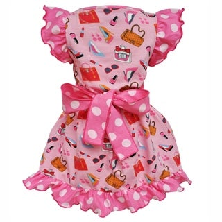 AnnLoren Girls Cotton Pink Makeup Accesories Dress & Legging Outfit (More options available)