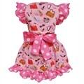AnnLoren Girls Cotton Pink Makeup Accesories Dress & Legging Outfit