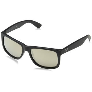 Ray-Ban Men's RB4165 Justin Black Frame Gold Mirror 51mm Lens Sunglasses