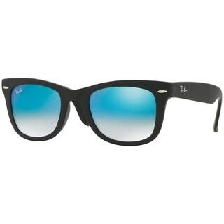 Ray-Ban Unisex RB4105 Wayfarer Folding Black Frame Blue Gradient Flash 50mm Lens Sunglasses