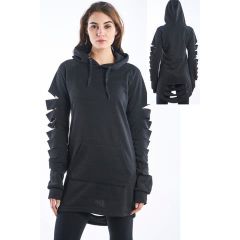 Ladies Hollowed Out Shoulder Sweatshirt Mini Dress by Special One