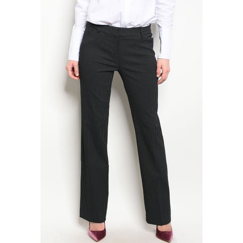 JED Women's Pinstripe Straight Leg Career Pants