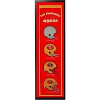 14x37 NFL Football Logo Banner with Frame