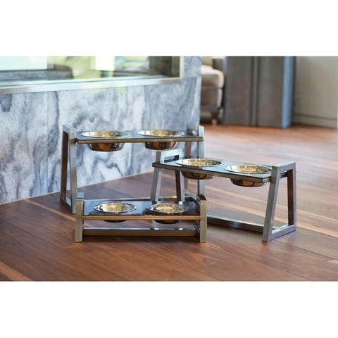 Unleashed Life Downing Elevated Double Pet Feeder Collection