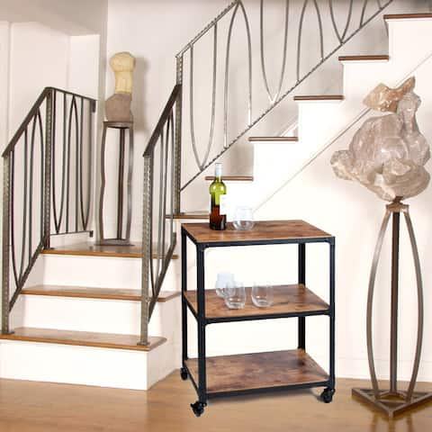 Mind Reader 'Charm' 3 Tier Wood/Metal Utility Cart