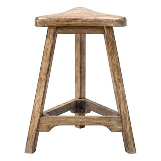 Uttermost Luther Weathered Oak-Finished Counter Stool