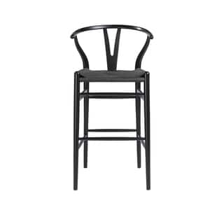 Set Of 2 Aldis Brown Faux Leather Barstool With Black