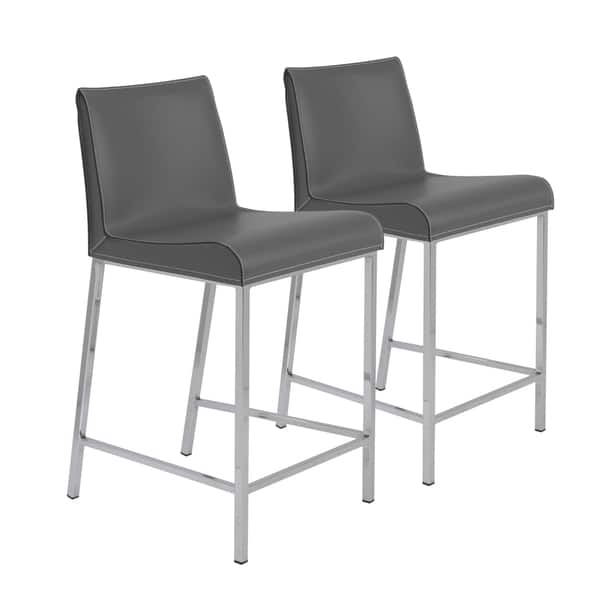 Magnificent Shop Cam C Counter Stool In Gray With Polished Stainless Customarchery Wood Chair Design Ideas Customarcherynet
