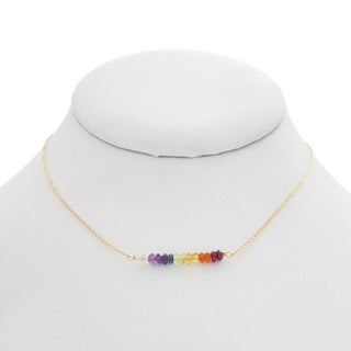 Rafia Gold Filled Chakra Necklace