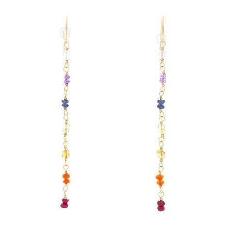 Rafia 14k Gold Filled Chakra Earrings