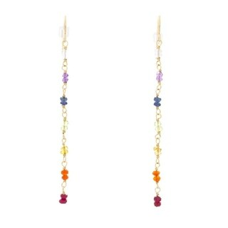 Rafia 14k Gold Filled Chakra Earrings