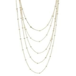 Rafia Sterling Silver 5-Strand Ball Chain Necklace