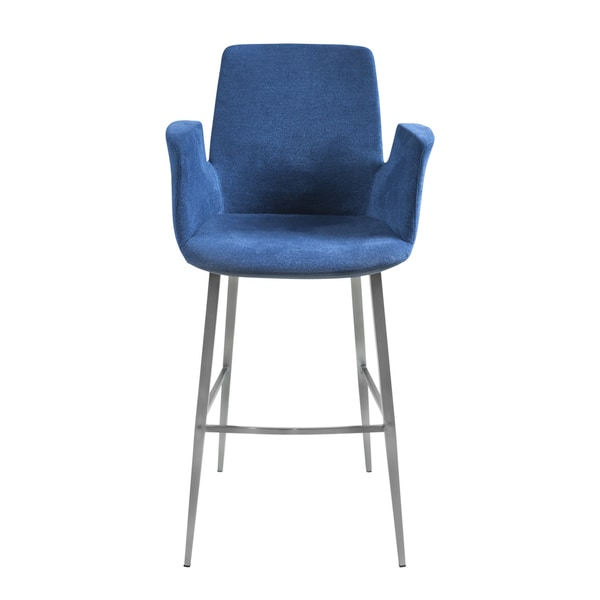 Shop Euro Style Archer B Blue Fabric And Foam Upholstered