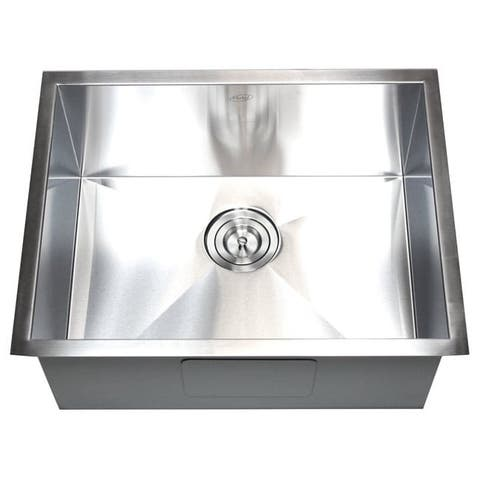 23-inch Stainless Steel 16 Gauge Single Bowl Undermount Zero Radius Kitchen Bar Island Sink