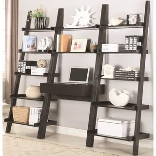 Modern Artistic Design Brown Hanging Ladder Desk and Bookcase