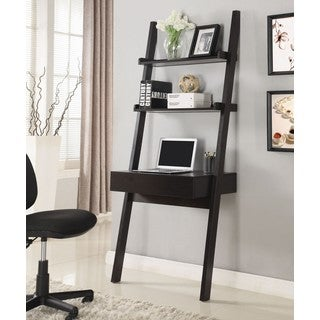 Modern Artistic Design Brown Hanging Ladder Desk With Shelves