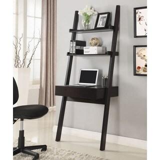 Modern Artistic Design Brown Hanging Ladder Desk With Shelves