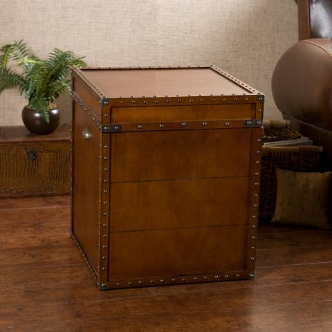 Carbon Loft Blodgett Walnut Finish Trunk End Table