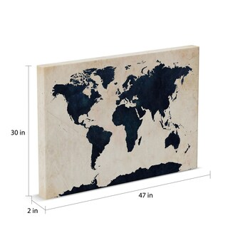 Carbon Loft Michael Tompsett 'World Map - Navy' Canvas Art
