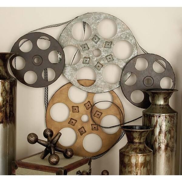Film Reels Metal Wall Decor