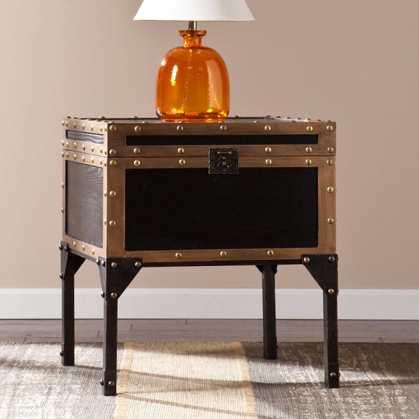 The Curated Nomad Azul Travel Trunk Side/ End Table. Opens flyout.