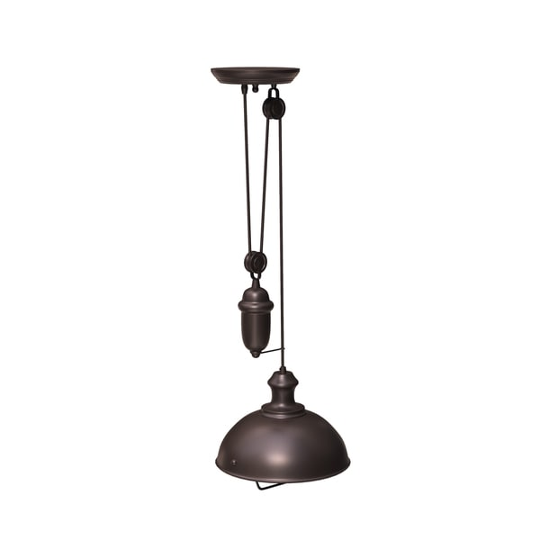 Carbon Loft Braun Single-light Oiled Bronze Pendant