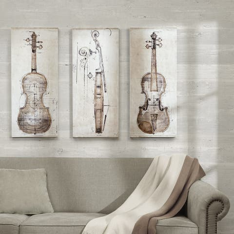 The Gray Barn 'Violin Study Set' Printed Embellished Canvas 3-piece Set