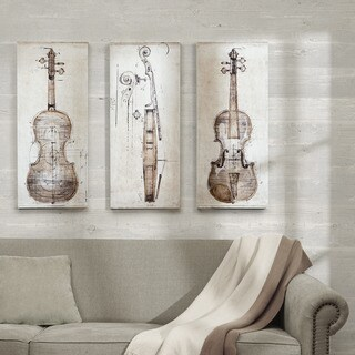 Carbon Loft 'Violin Study Set' Printed Embellished Canvas 3-piece Set