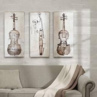 The Gray Barn 'Violin Study Set' Printed Embellished Canvas 3-piece Set