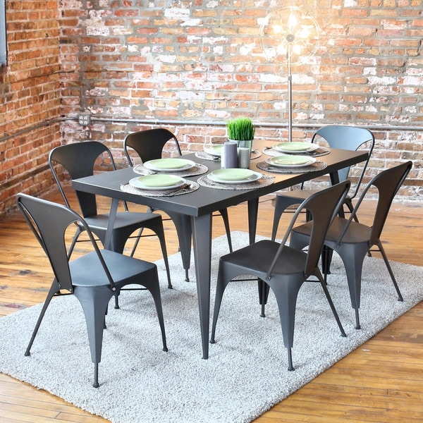 Carbon Loft Swan Industrial Metal Dining Table