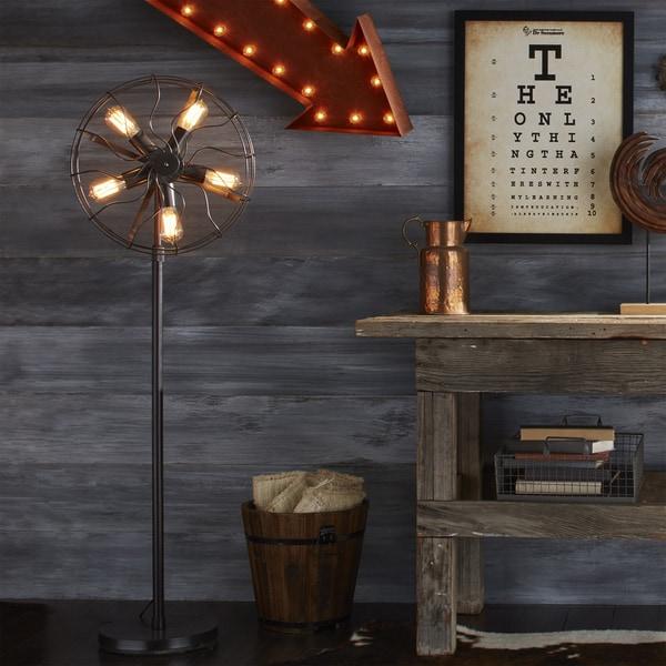 Carbon Loft Hargreaves Industrial Floor Lamp