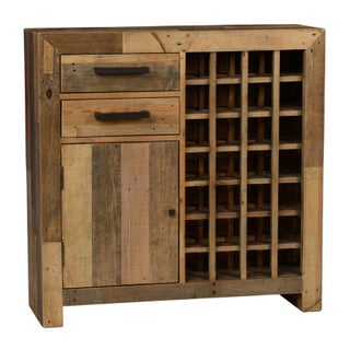 The Gray Barn Cocklebur Reclaimed Wood Wine Cabinet (Option: natural multi-tone)