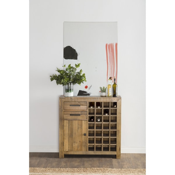 Shop The Gray Barn Cocklebur Reclaimed Wood Wine Cabinet