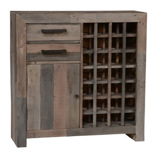The Gray Barn Cocklebur Reclaimed Wood Wine Cabinet (Option: charcoal multi-tone)