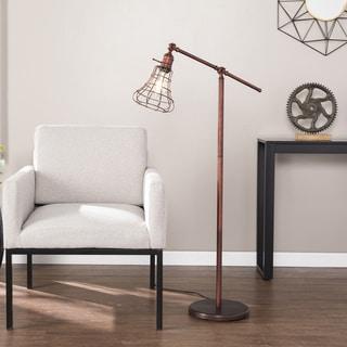 Carbon Loft Hart Industrial Swing Arm Floor Lamp
