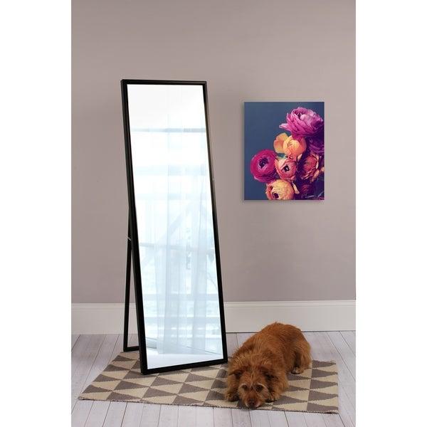 Carbon Loft Beckman Wood Framed Free-standing Mirror