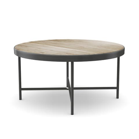 Carbon Loft Cartwright Weathered Grey Oak Coffee and End Table